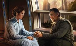 Bail comforting Leia