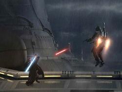 Obi-Wan vs Jango AotC