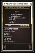 T-70 X-wing Starfighter - Datapad