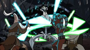 Aayla and Ki-Adi vs. Grievous