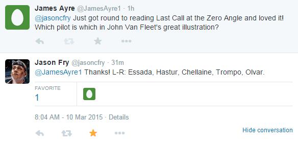 File:Jason Fry Last Call at the Zero Angle tweet.png