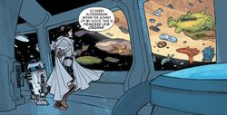 Leia addresses the Alderaanians