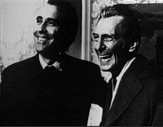 Christopher Lee and Peter Cushing