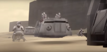 Imperial convoy with speeders