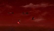 Tri-fighters attack Dathomir