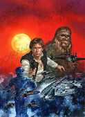 Han Solo at Stars' End art 1997