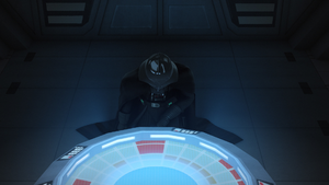 The Siege of Lothal Vader kneels before the Emperor