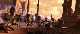Droidekas and B2 Super battle droids