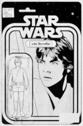 Star Wars Vol 2 1 Black and White Action Figure Variant