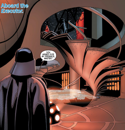 Vader and the Emperor Executor meeting