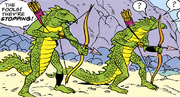Lizard Warrior archers
