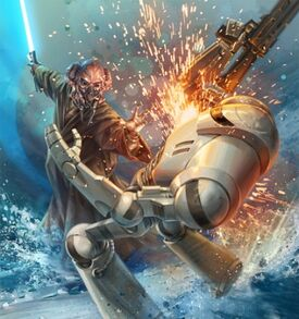 Plo Koon VS Battledroid