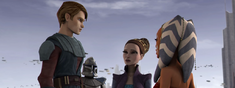Anakin Captain Rex Padme and Ahsoka