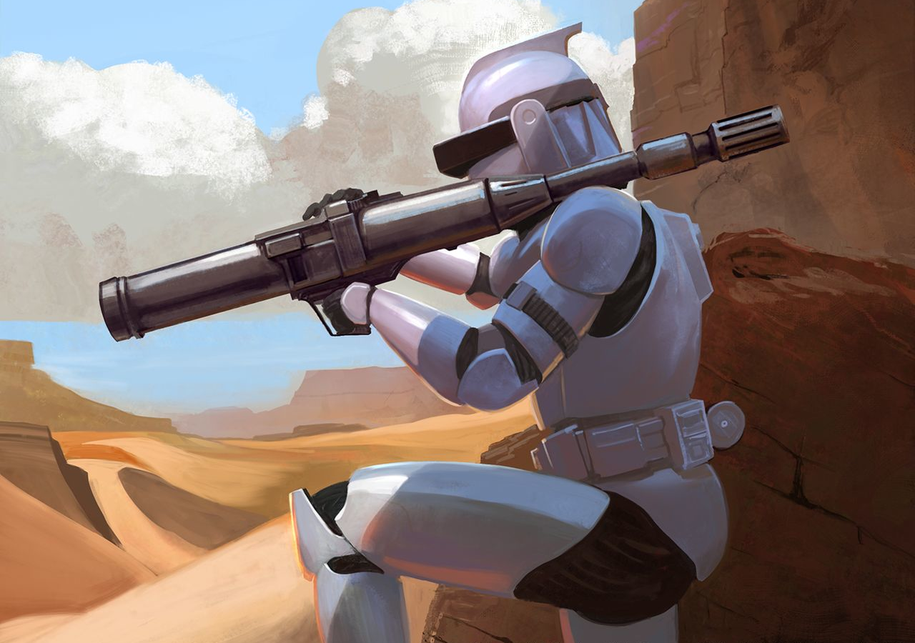 Captain Rex with Firing Missile Launcher Star Wars The Clone Wars