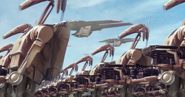 B1 army and landing craft on Naboo