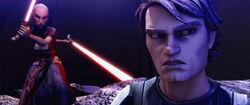 Asajj vs Anakin Teth