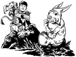 Milo and the rabbit