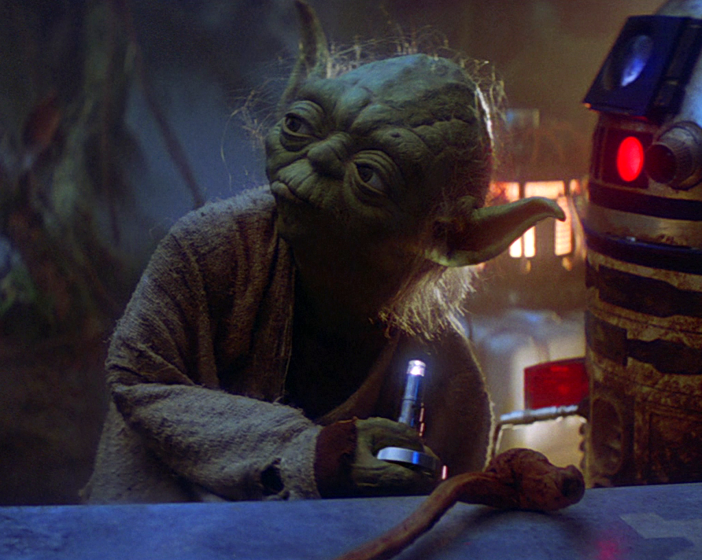 Image result for yoda stealing luke's lamp