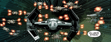 Yellow Squadron attacks Darth Vader
