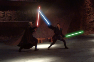 Anakin dual wielding