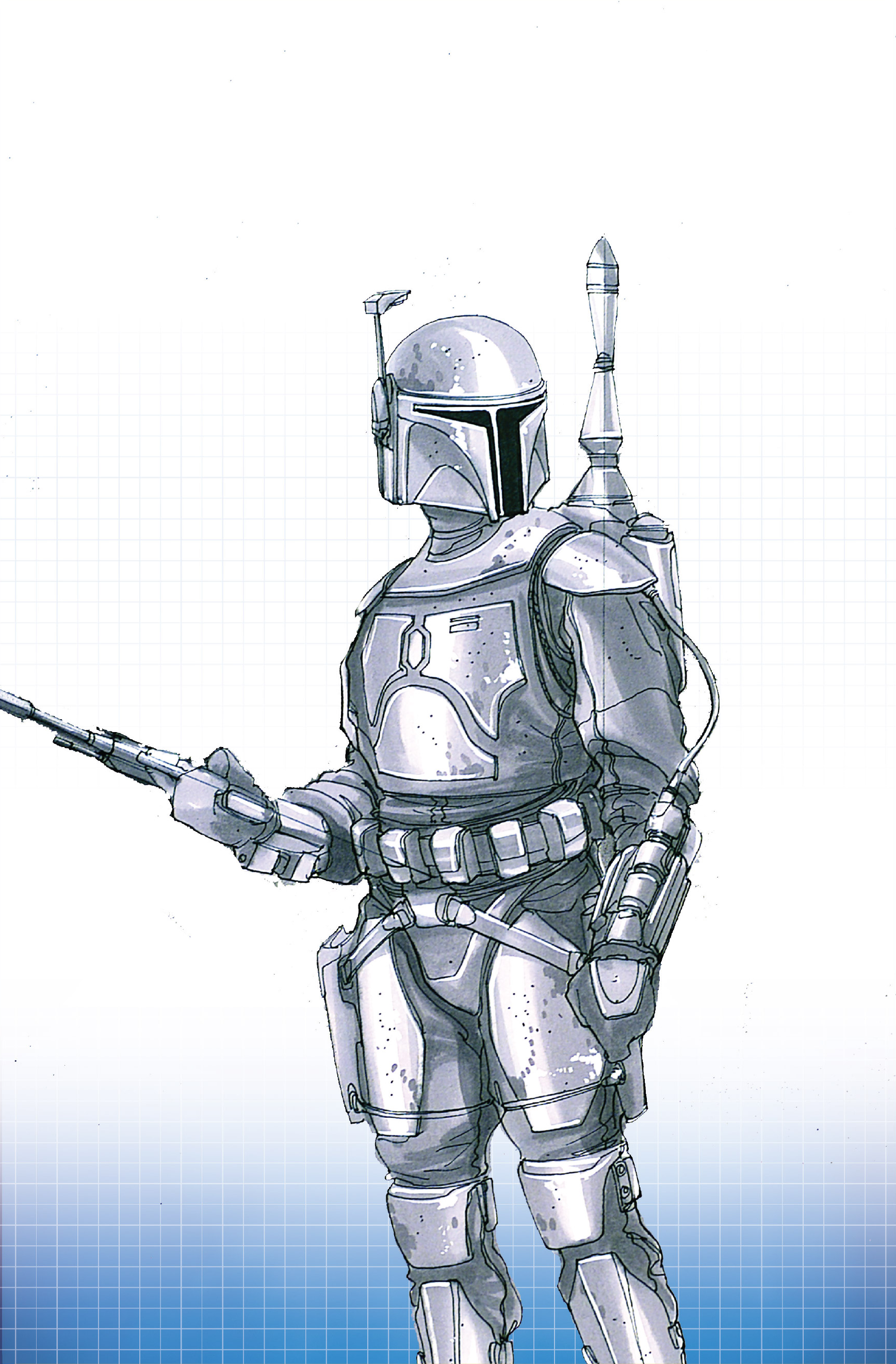 Star Wars Jango Fett printable page to color | Coloring pages | 2644x1737