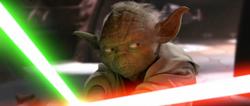 Yoda neemt het op tegen Dooku 2