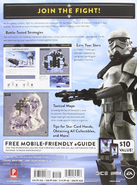 Star Wars Battlefront Strategy Guide Standard Edition-Back Cover