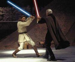 Kenobi vs Dooku AotC