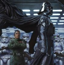 Tagge looks on vader
