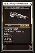 RZ-2 A-wing Starfighter - Datapad