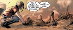 Aphra examines sterilized Geonosis