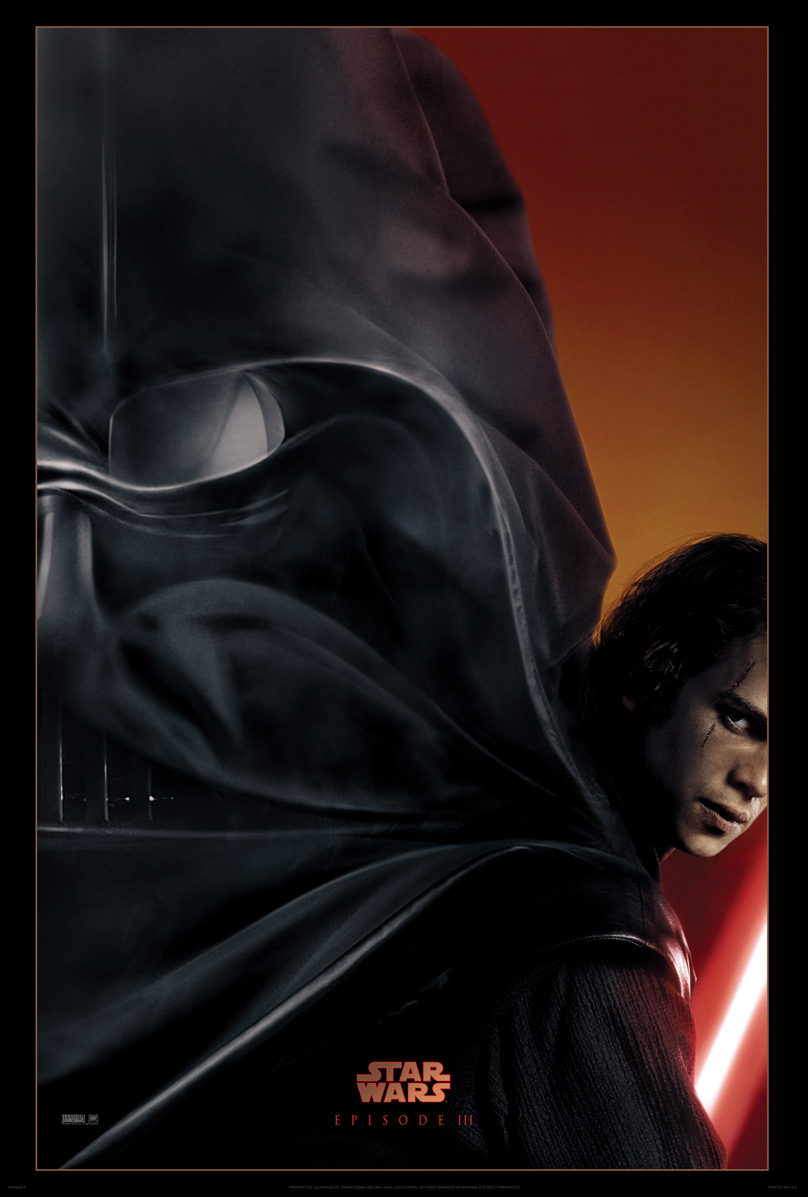 """New Art Print Of Movie Poster 2005 /""""Star Wars III Revenge of the Sith/"""""""