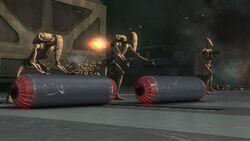 Battle droids rolling proton bombs