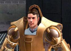Galak Fyyar in his armor
