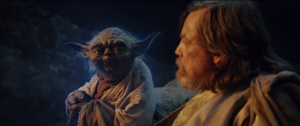 Yoda and Luke TLJ