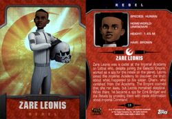 Zare Leonis Topps Trading Card