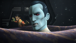 Thrawn about to take a ride