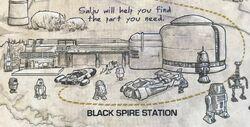 Black Spire Station card