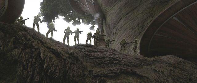 File:41st Elite Corps Swamp Troopers fighting on Kashyyyk.jpg