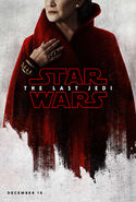 Carrie Fisher General Leia Organa The Last Jedi Teaser Poster
