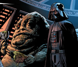 Vader and jabba sitting in a tree