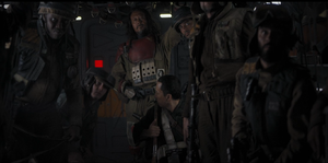 Rogue One in shuttle