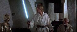 Luke with Lightsaber 1