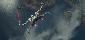 X-wing vs TIE fighter on Takodana
