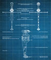 ASF-01 B-wing starfighter blueprints-sw card trader