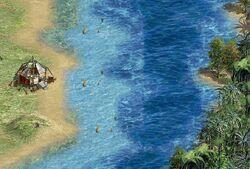 A river runs