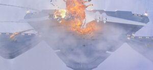 Amidalas ship explodes