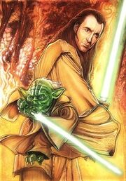 Count dooku med Yoda