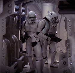 Stormtroopers searching Tantive IV