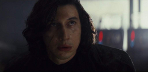 Kylo Ren looking at Rey